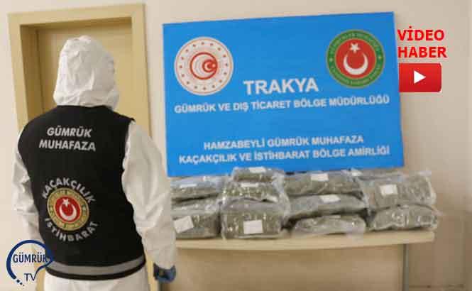 Hamzabeyli Gümrük Kapısında 30 Kilo Uyuşturucu Yakalandı