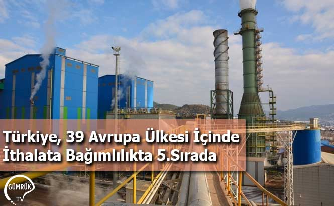 Türkiye, 39 Avrupa Ülkesi İçinde İthalata Bağımlılıkta 5.Sırada