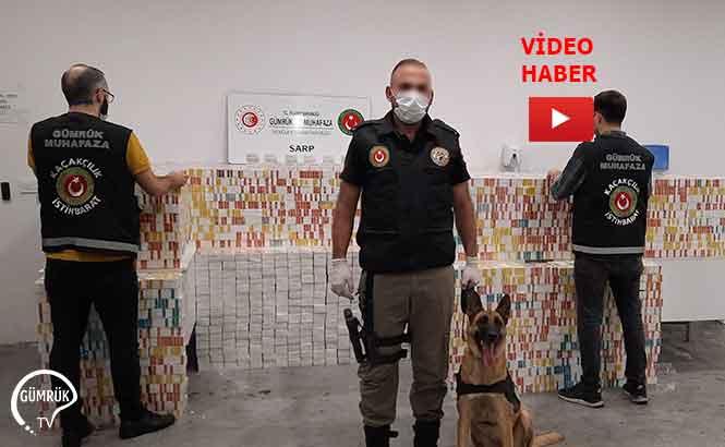 Sarp Gümrük Kapısında 71 Bin Adet E-Sigara Tütünü Ele Geçirildi