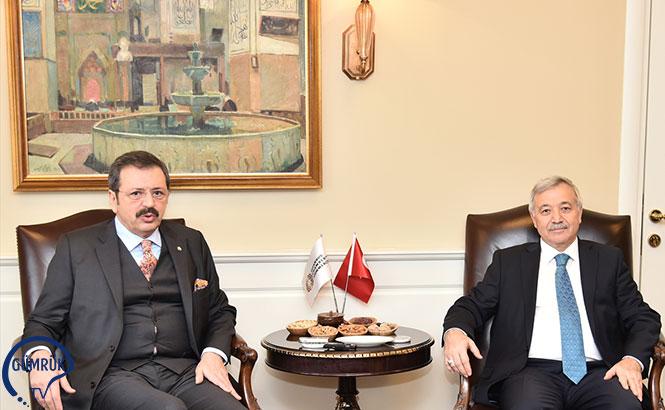 TOBB Başkanı Hisarcıklıoğlu, İTO'yu Ziyaret Etti