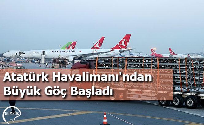 Atatürk Havalimanı'ndan Büyük Göç Başladı