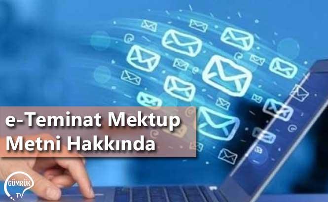 e-Teminat Mektup Metni Hakkında