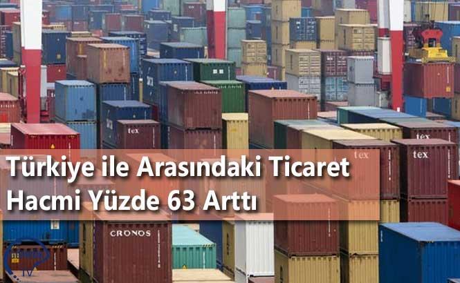 Türkiye ile Arasındaki Ticaret Hacmi Yüzde 63 Arttı