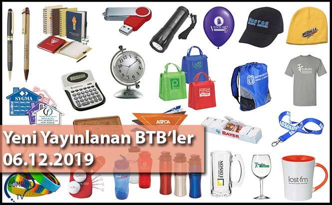 Yeni Yayınlanan BTB'ler 06.12.2019