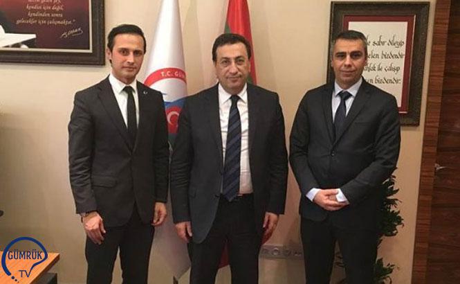 Gümrük Muayene Memurları Derneği Müsteşar Yardımcısı İsmail Yücel'i Ziyaret Etti