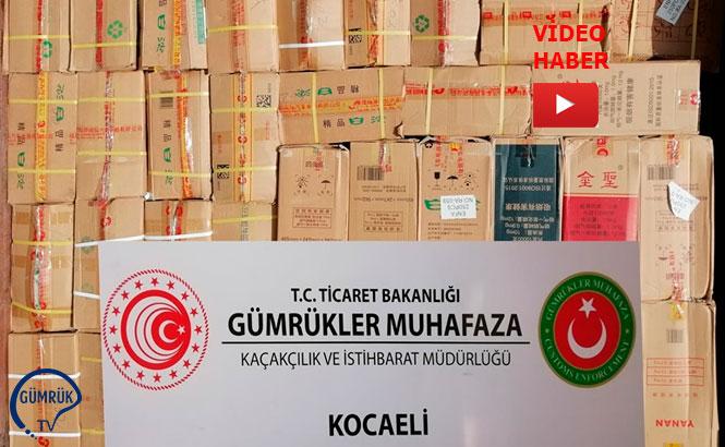 Kocaeli'de 15 Milyon Liralık Kaçakçılık Tespiti