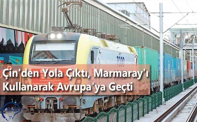 Çin'den Yola Çıktı, Marmaray'ı Kullanarak Avrupa'ya Geçti