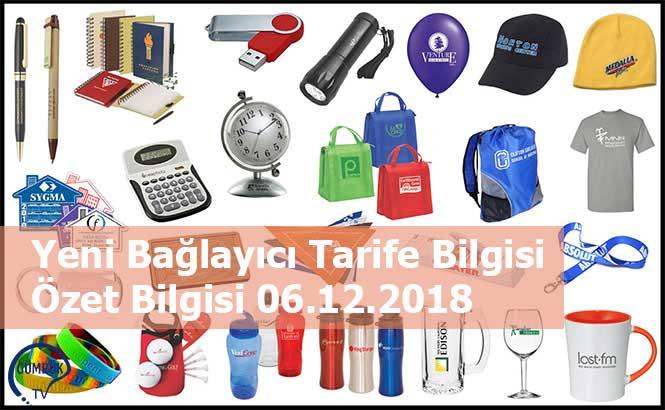 Yeni Bağlayıcı Tarife Bilgisi Özet Bilgisi 06.12.2018