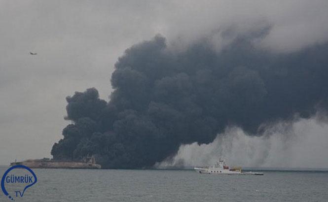 Çin'de Tanker Gemisi ile Yük Gemisi Çarpıştı 32 Kişiden Haber Alınamıyor