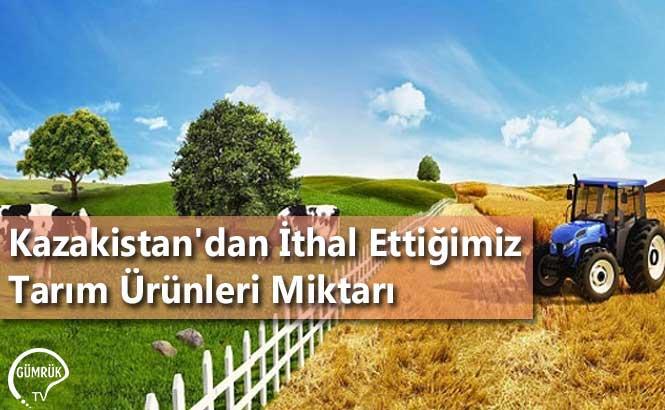 Kazakistan'dan İthal Ettiğimiz Tarım Ürünleri Miktarı