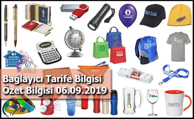 Bağlayıcı Tarife Bilgisi Özet Bilgisi 06.09.2019