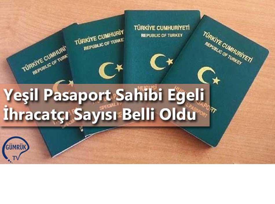 Yeşil Pasaport Sahibi Egeli İhracatçı Sayısı Belli Oldu